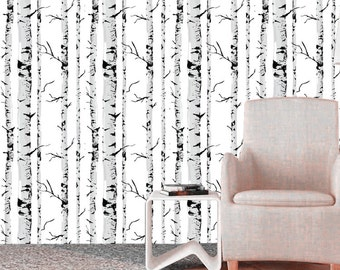 Birch Tree Decal | Etsy Part 92