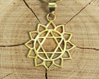 SALE 20%OFFHeart Chakra Anahata Brass Pendant