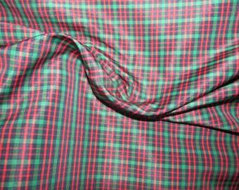 "Red / Green Taffeta Craft Dress Fabric 54"" Wide"