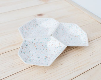 Large Geometric Ring Dish set of 3 in Sprinkles.