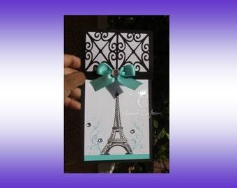 Oh La La, Paris Theme Invitations, Sweet Sixteen Invitations, Quinceañera Invitations, Bridal Shower Invitations, Birthday Invitations,