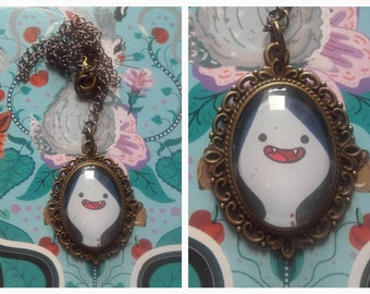Adventure Time Marceline The Vampire Queen Cameo necklace.