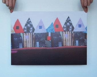 Poster - summer houses - A3