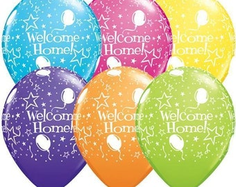 6 welcome home balloons