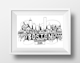 Boston Marathon 2016 Print