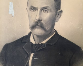 1890 Charcoal drawing by a Montana artist