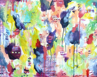 Bright, Colorful Abstract Painting - PRINT