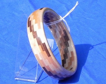 Segmented Handcrafted Wood Bangle