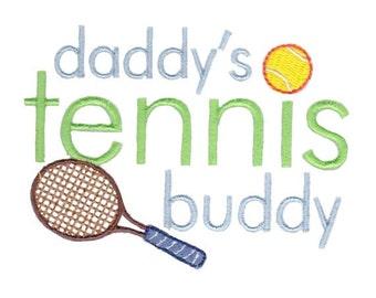 Daddy's Buddy Sentiments Design 6 Filled Stitch Machine Embroidery Design 4x4 5x7
