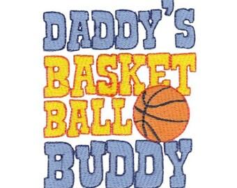 Daddy's Buddy Sentiments Design 11 Filled Stitch Machine Embroidery Design 4x4 5x7