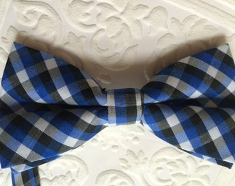 SALE: bow, plaid bow tie, blue bow tie, blue plaid bow tie, newborn bow tie, toddler bow tie, plaid bow tie boy, blue boy bow tie, boy plaid