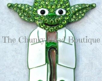 Rhinestone Yoda Pendant