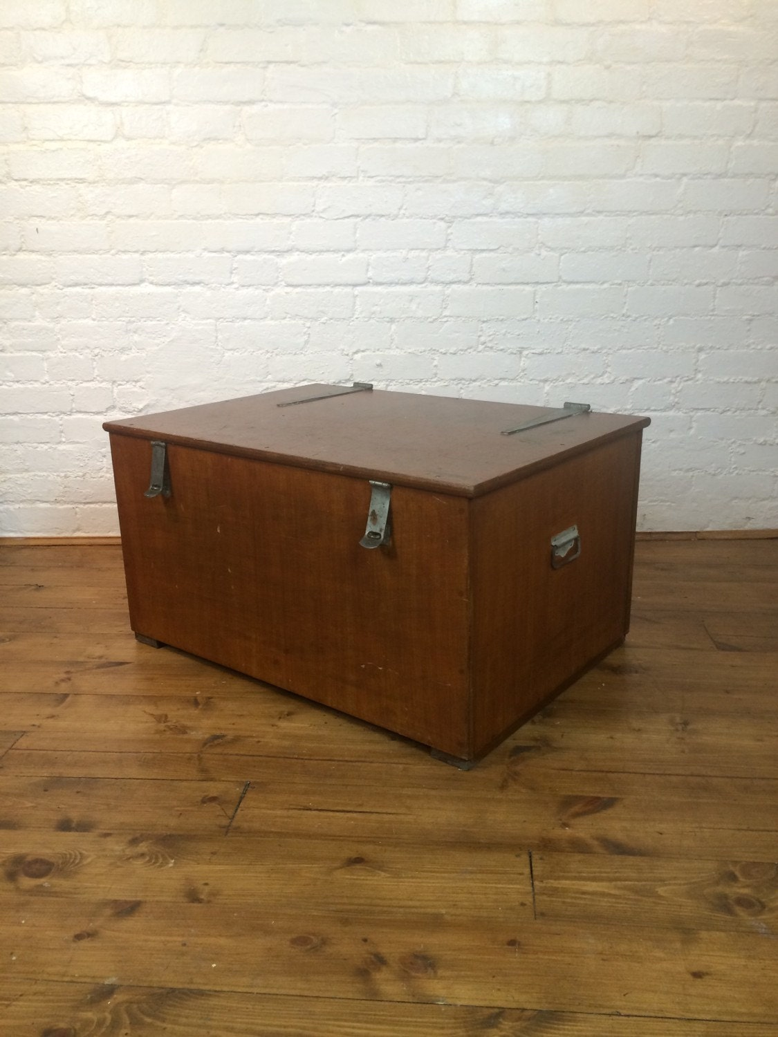 Vintage Rustic Wooden Trunk Coffee Table Blanket Box By Wearship