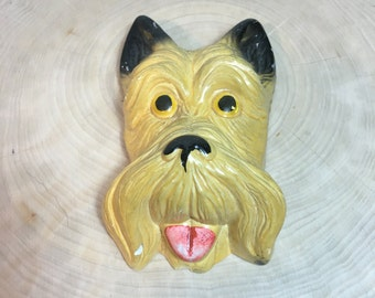 Chalkware Terrier Wall Hanging