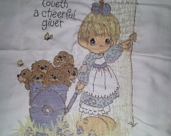 Precious moments embroidery