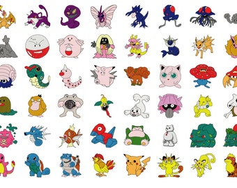 POKEMONS designs for embroidery machine, instant download