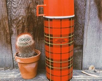 Vintage Plaid Thermos