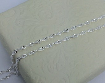 Sterling Silver Twisted Chain ~1.80mm