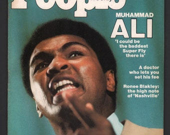 Vintage Magazine - People Weekly : July 1975 Muhammad Ali Cassius Clay EX+ White Pages High Grade Unread No Label