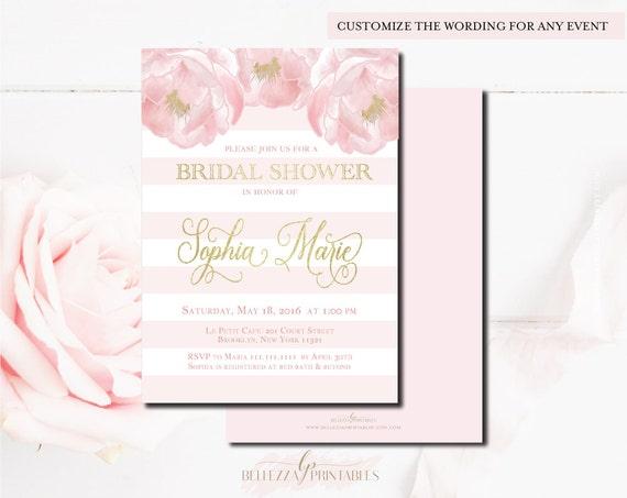 Floral bridal shower invitations pink gold bridal shower il570xn filmwisefo