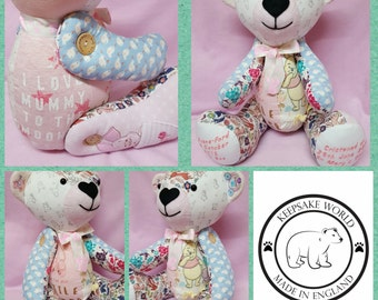 Large Memory bear,keepsake,christening,birthday,Christmas,newborn gifts