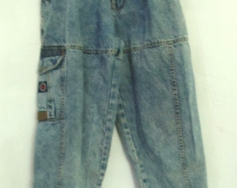 Men's Vintage 80's STONEWASHED,Tapered Leg Jeans By BUGLE BOY.29x30