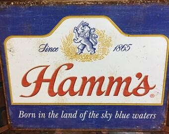 Hamm's Beer tin sign