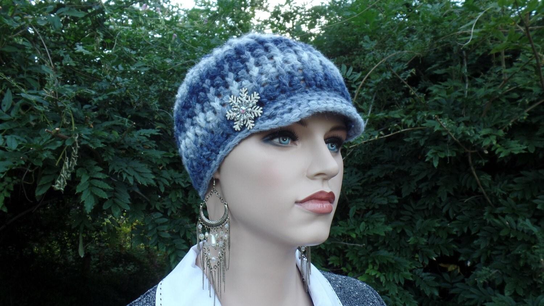 Crochet Ribbed Womens Newsboy Hat Pattern Digital Download