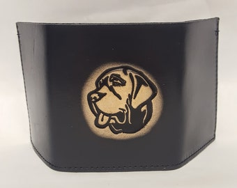 Mastiff Dog Breed Bifold or Trifold Leather Wallet