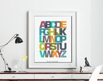 Alphabet Print- ABC Print Download