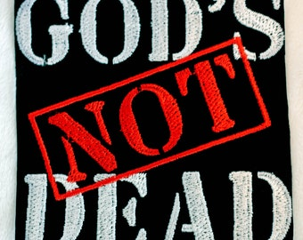 God's Not Dead Iron on Patch