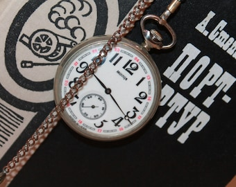 USSR Pocket Watch MOLNIJA. Molnija Pocket watch, Men's pocket watch. 1980s.USSR pocket watch Molnija/Soviet watch1980s.