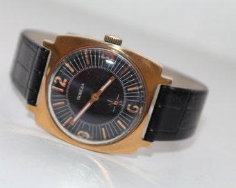 VintageGold-case Russian Soviet watch ZIM USSR Servised/Soviet watch/Vintage/1980s.Very Good Conditions Gold Plated Case Watch ZIM.!!!!!!!!