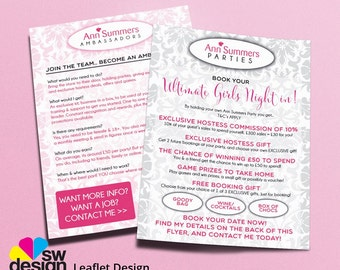 Ann Summers Canvassing Leaflets