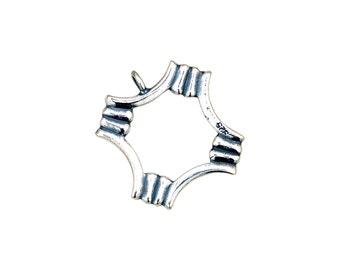 Designer Toggle Clasp -Sterling Silver (#9594)