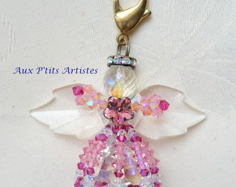"""key chains, jewelry bag """"Angelo"""" pink"""