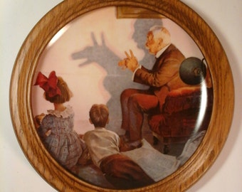 """Norman Rockwell's 1987 Wall Plate """"The Shadow Artist"""""""