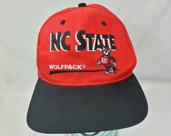 FREE SHIPPING Vintage 90s NC State Wolfpack Snapback Hat by Twins Enterprise