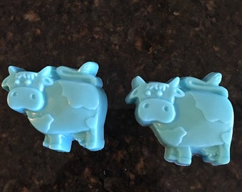 Handcrafted Moo Cow 2 Pack Bar Soap