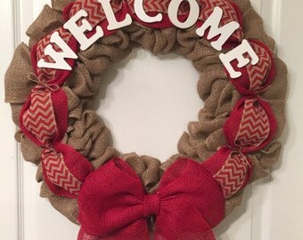 Personalized burlap wreath SALE!!!!!
