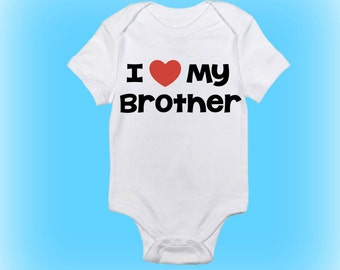 Cute Baby Onesie® - I Love My Brother Onesie - New Brother Onesie - Baby Boy - Baby Girl - Baby Clothing - Baby Onesie - New Baby Gift