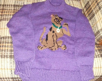 Sweater purple scooby doo for daughter 10 years