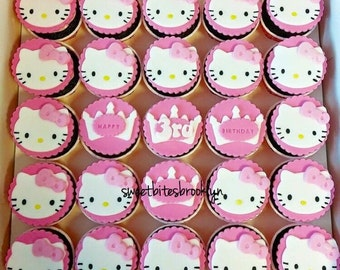 Hello kitty fondant or cookies topper