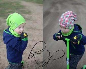 Kids Cotton Slouchy Hat, Kids Cotton Beanie, Kids Reversible Beanie, Toddler Cotton Beanie, Boys Cotton Hat, Girls Cotton Hat, Jersey Beanie