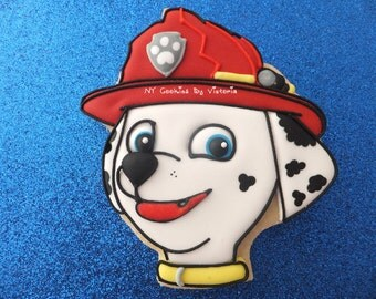 Marshall Cookies  -  Paw Patrol Cookies - Birthday Party Cookies - Paw Patrol Party Theme