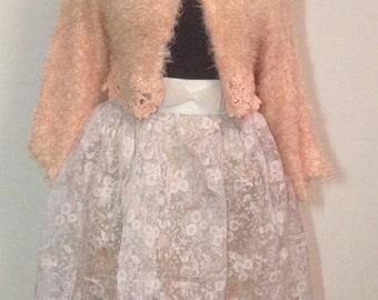 Organza skirt, blush pink skirt,  organza skirt, skirt, prom dress.