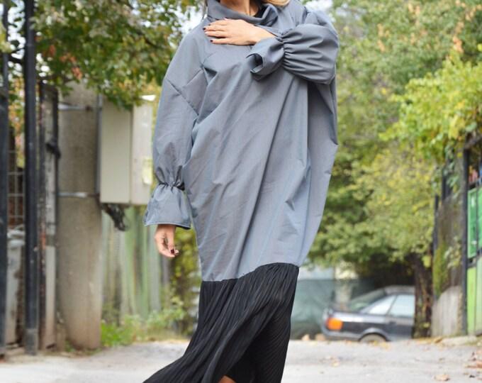 Street Fashion Turtleneck Dress, Maxi Cotton Kaftan Dress, Plus Size Long Dress, Extravagant Party Dress By Ssdfashion