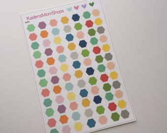 Hexagon Color Coding Stickers - S092