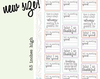 Gratitude Planner Stickers | Thankful Planner Stickers in Pastels (#074)