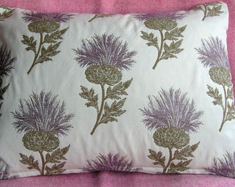 "Thistles decorative cushion cover to fit 18""x18"" pad."